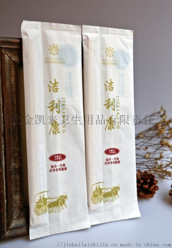 一次性筷子,连体竹筷,一次性餐筷,三合一湿巾套装筷子