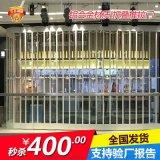 定制商场铝合金水晶折叠门电动水晶卷帘门透明水晶门