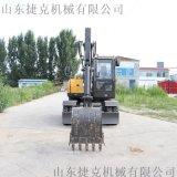 轮胎式小型挖掘机 山东轮式挖机厂家 捷克 80挖机
