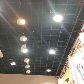 碳黑铝格栅天花 高光白铝格栅吊顶 木纹铝格栅厂家