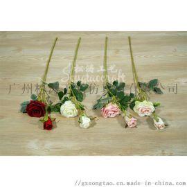 仿真9头玫瑰手捧玫瑰婚庆装饰玫瑰花