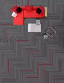 工厂直销供应办公室环保隔音防火防滑pvc长方块地毯