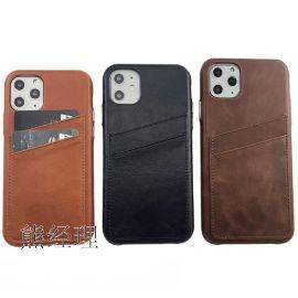 苹果11手机皮套 真皮全包外壳保护套 手机壳带卡槽