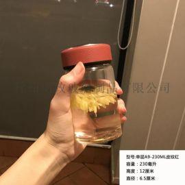 韩版清新森系单双层玻璃杯女创意水杯简约随手杯