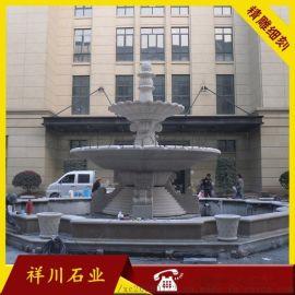 喷泉摆件 艺术水景水钵 砂岩水钵 精品喷泉雕刻