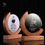 水晶木质奖牌圆形水晶木牌员工表彰奉献奖牌团队合作