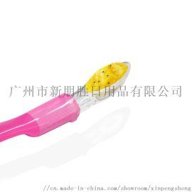 廠家OEM定制**硅膠軟勺 輔食湯匙訓練勺
