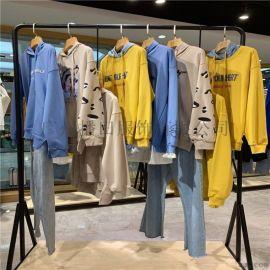 品牌折扣女装 长款纯色貂绒大衣 直播一手货源走份