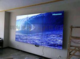 室内显示**超窄55寸拼接单元屏,壁挂支架