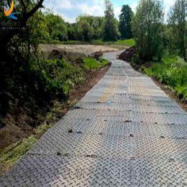 双面防滑纹铺路垫板HDPE路基板临时铺路板厂家
