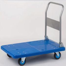 手推車  折倒扶手金屬支架TPR腳輪單層平板工具車