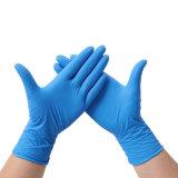 藍色丁腈手套無粉    一次性手套