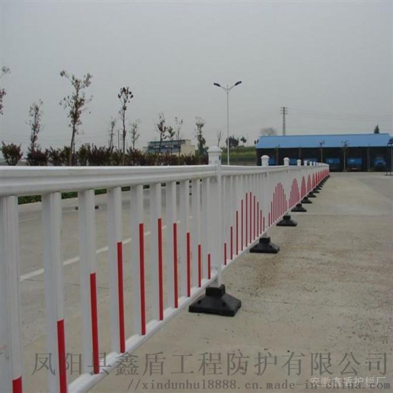 浙江嘉兴塑钢pvc道路护栏   交通隔离栏生产厂家