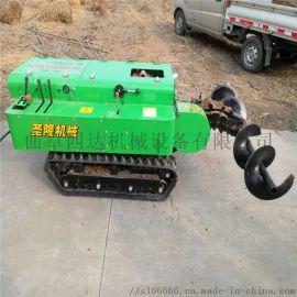 带遥控器开沟机 多种功能履带式田园管理机 微耕机