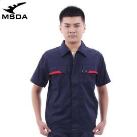 出口短袖休闲工作服棉质防静电制服作业工装服