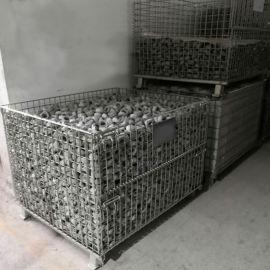配支架可堆垛折叠式金属周转箱 铁丝框 铁筐