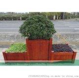 防腐实木花箱,长方形户外实木花箱,创意异形实木花箱