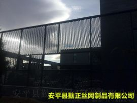 防护用装饰铝板网,围栏装饰网,大孔铝板菱形网