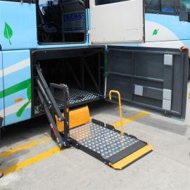 旅游车行李舱内旋转式残疾人电动轮椅升降机