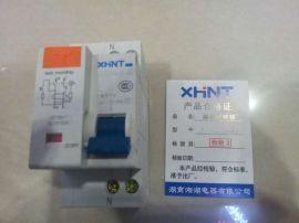 湘湖牌MCU316P-BD340E微型断路器组合剩余电流动作保护附件 6kA (MCB+AOB)接线图