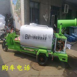 厂家直销新能源电动洒水车  电动雾炮工地除尘车