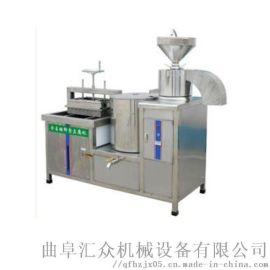 小型全自动豆腐机视频 石磨豆腐生产线 利之健lj