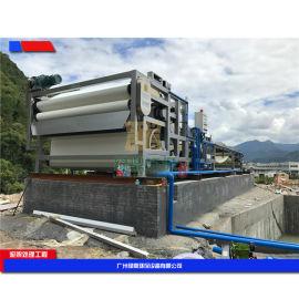 带式污泥脱水机操作简单. 使用方便,制沙线污泥压榨机