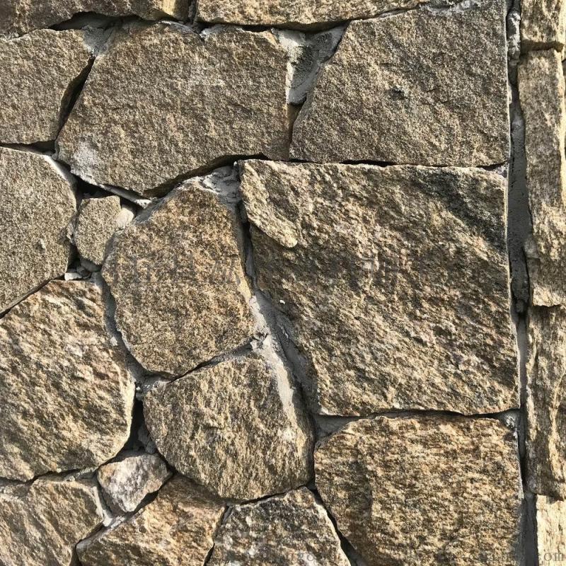 大量灰色碎拼石 灰色碎拼地铺石材 河北石材加工