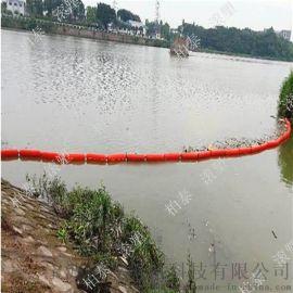 水上水库新型固定定位圆柱塑料组合拦污浮筒
