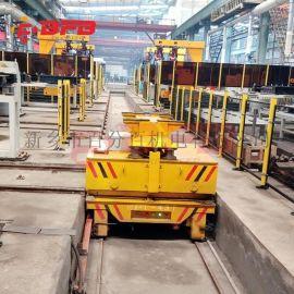 75吨探伤房用轨道平车80吨过跨平板车