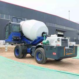 沃特3.5方混凝土自动上料搅拌车 移动式水泥搅拌罐车