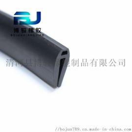 橡胶包边条 U型橡胶条 卡槽橡胶钢板卡条 玻璃嵌条