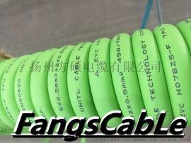 充电桩螺旋电缆新能源汽车充电螺旋电缆