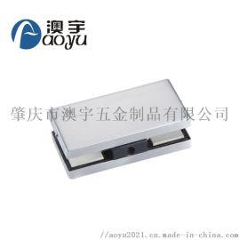 1513淋浴房五金配件钢化玻璃门夹304不锈钢铝芯