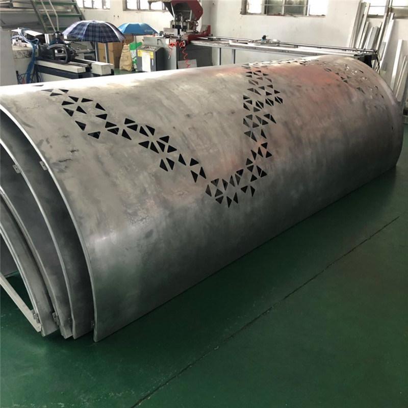 乱码冲孔包柱铝板 长条形冲孔荧光包柱铝