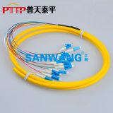 12芯(LC/UPC)束状尾纤 12色光纤连接器
