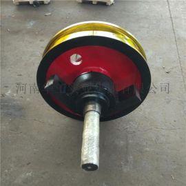 铸钢50硅锰材质车轮组 800*160天车轮组
