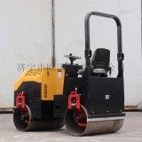 座駕壓路機1.5噸2噸柴油壓路機雙鋼輪小型壓路機