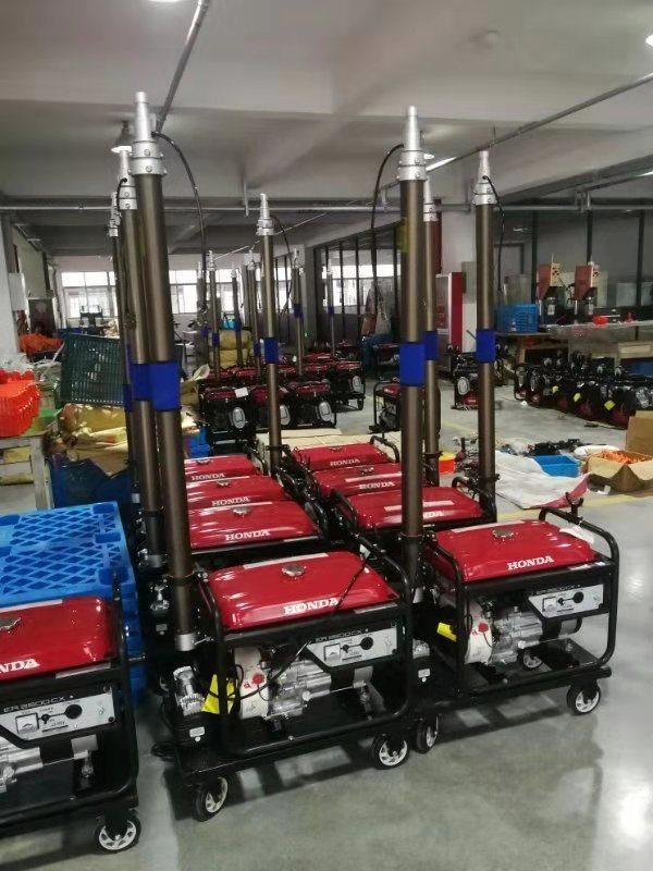 自动升降移动照明车工业抢险救灾工作灯发电机照明灯