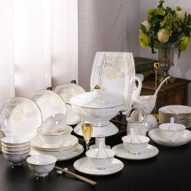 商务礼品陶瓷餐具套装景德镇**欧式碗盘碟