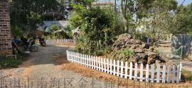 广东小区草坪护栏广场装饰围栏烤漆护栏锌钢花坛栅栏