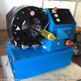 方天牌SP32工地压套头缩管机  大棚钢管压管机