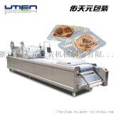 豆乾全自動拉伸膜真空包裝機, 連續食品真空包裝機