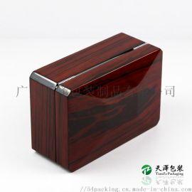 定制木质手表盒 手工贴天然木皮高光 钢琴漆木盒