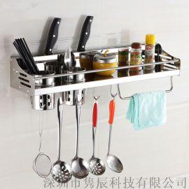 免打孔不锈钢多功能厨房置物架