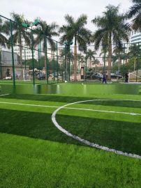 广西北海运动场学校仿真草皮 足球场人造草坪铺设