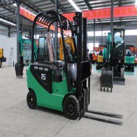 四轮电动叉车 1.5吨座驾式电动铲车 3吨堆高车
