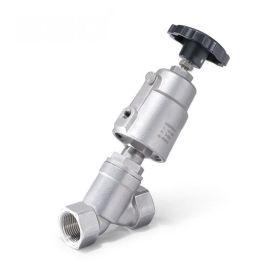 进口气动带手动角座阀-手动功能-1.6MPa-焊接