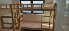 **家具公司批发实木床高低床大量低价批发