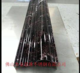 工厂直销镜面玫瑰金不锈钢踢脚线 抗指纹玫瑰金包边线